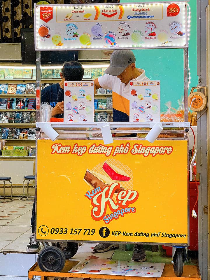 nơi bán kem kẹp singapore