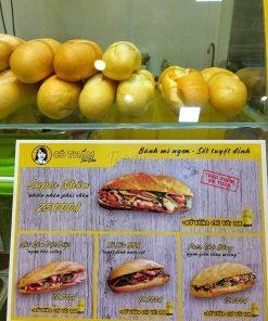 Giá bán bánh mì Cô Thắm Sài Gòn