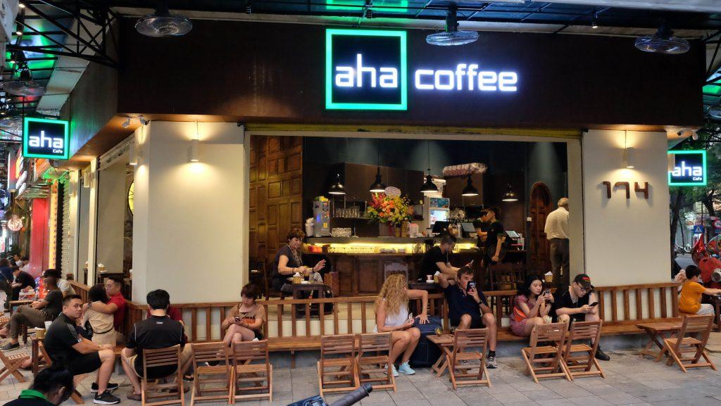 Hình ảnh quen thuộc của cafe Aha