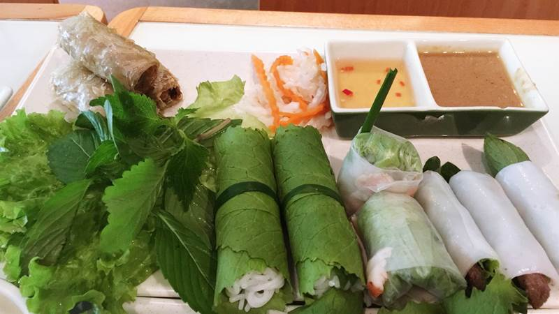 Menu của wrap and roll