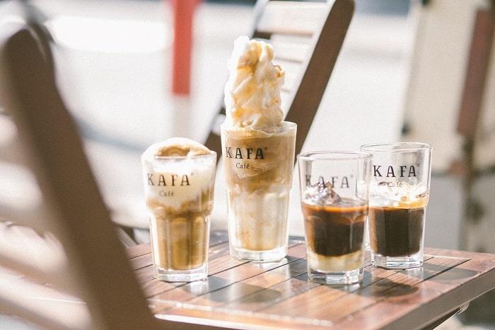 thực đơn của kafa cafe