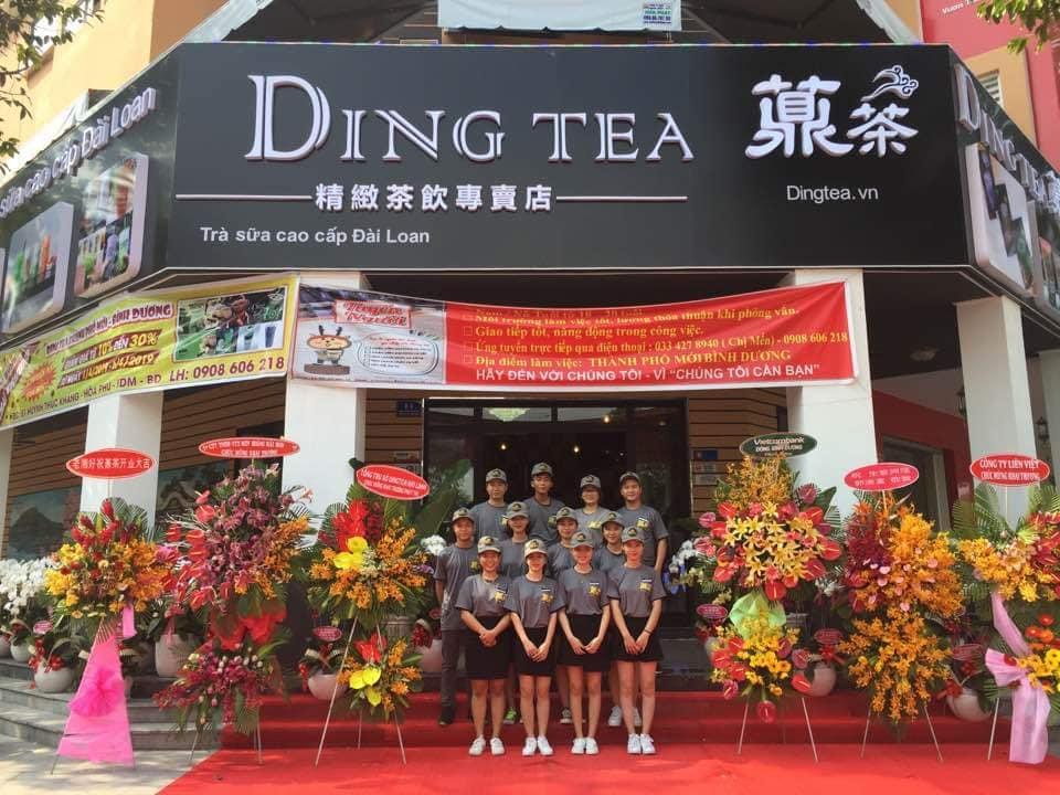 Khai trương cửa hàng trà sữa nhượng quyền Ding Tea