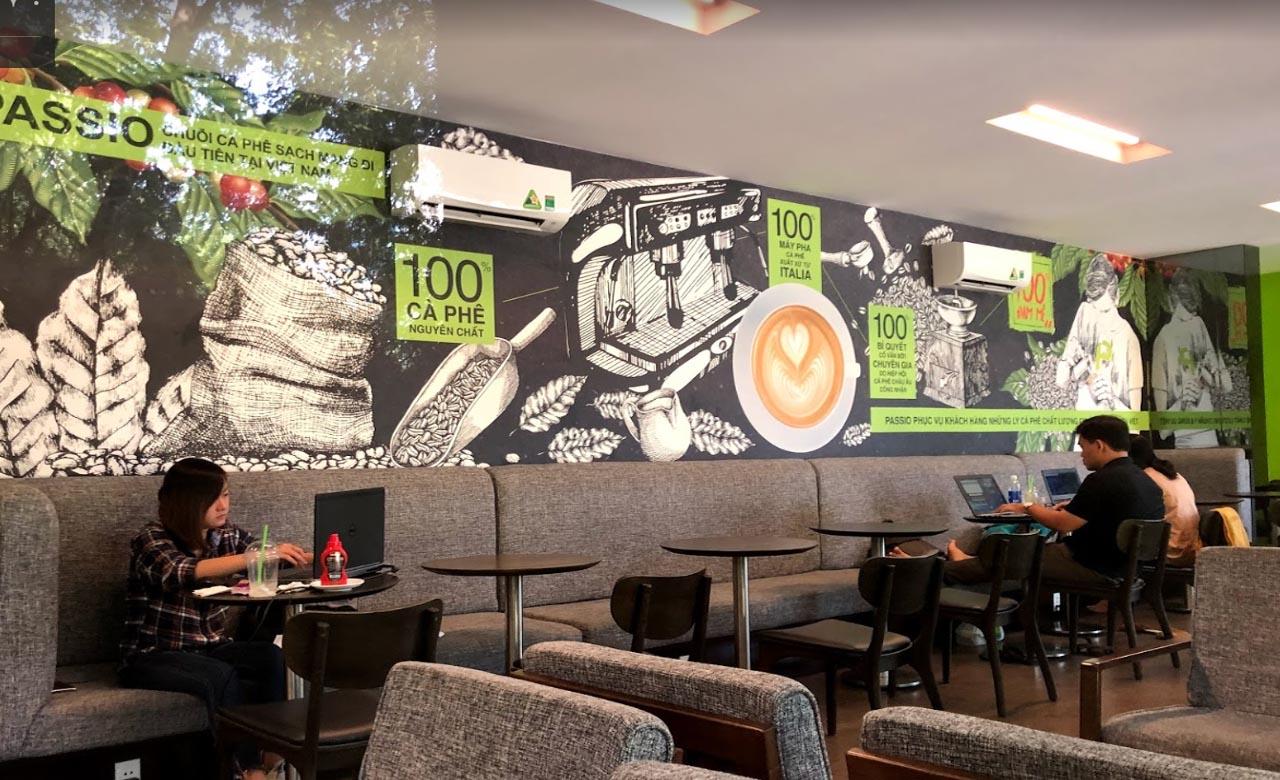 Không gian cafe Passio