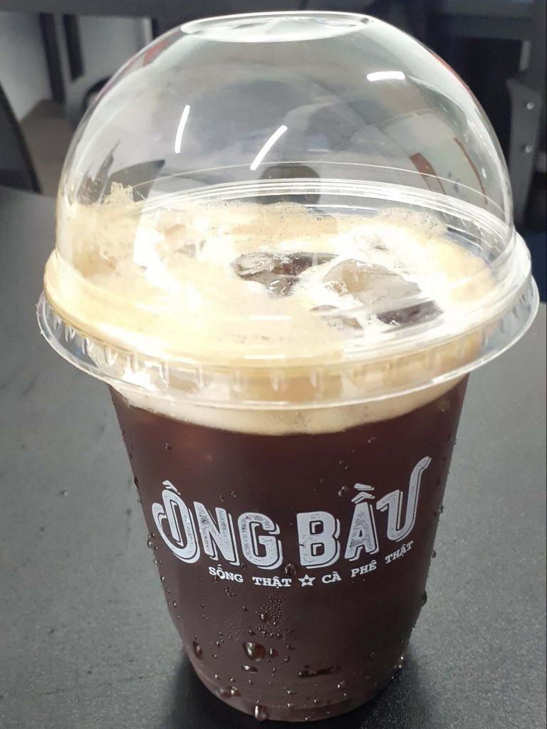 Cafe Đen đá của cafe Ông Bầu