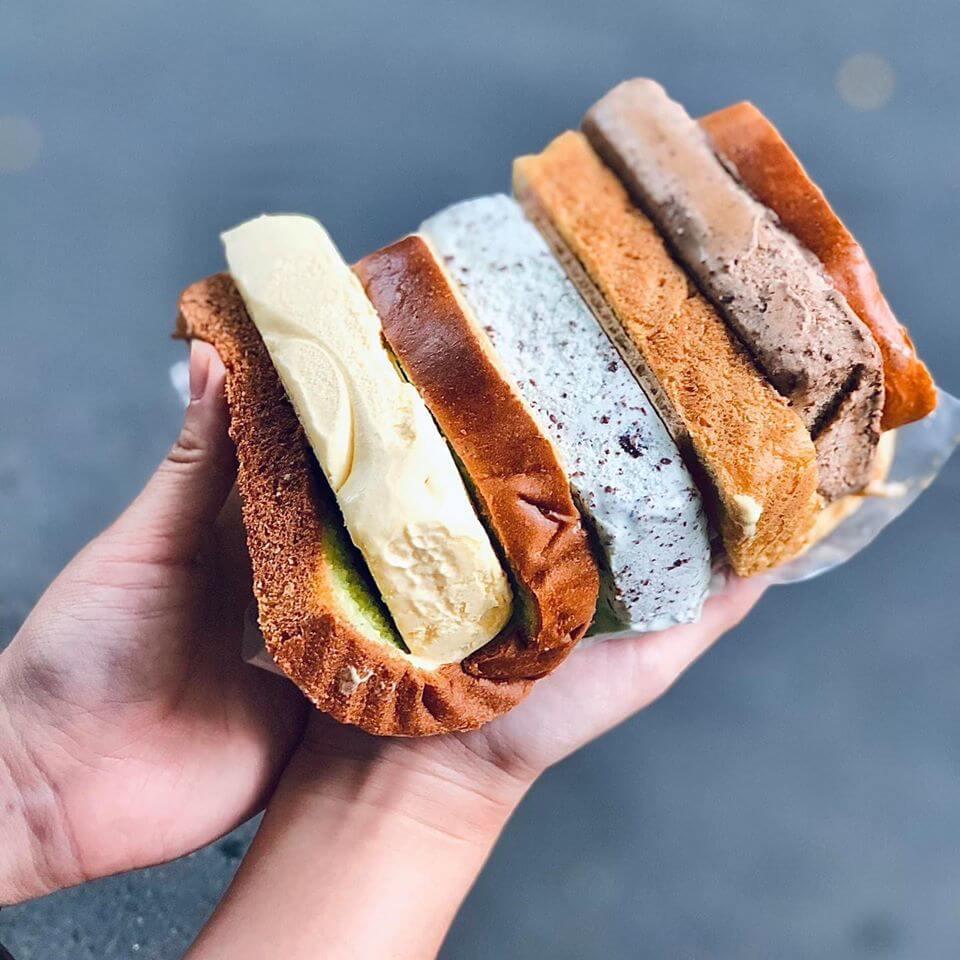 bánh mì kẹp kem singapore