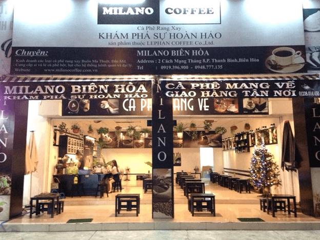 Quán cafe Milano ở Biên Hòa- Đồng Nai